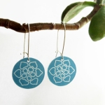 mandala earrings: https://www.etsy.com/listing/110548822/mandala-dangle-earrings-aqua-flower-drop