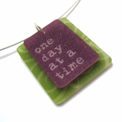 one day at a time inspirational jewelry