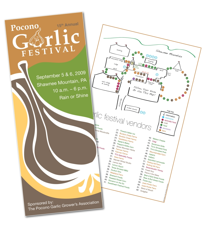 brochure cover and map