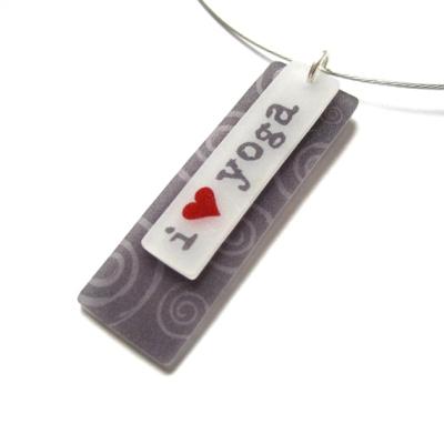 i heart yoga pendant